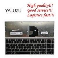 YALUZU EUA Inglês Teclado do portátil Para Lenovo Z500 Z500A Z500G P500 P500A iluminado com luz de fundo de prata Inglês|Teclado de substituição| |  -