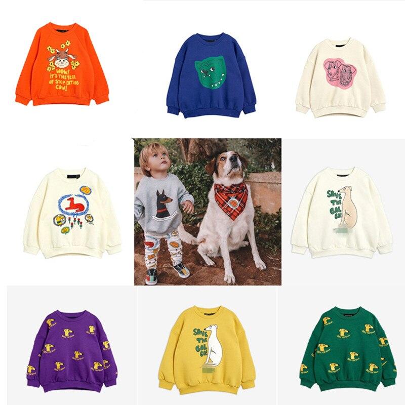 Новинка 2021, весенний брендовый Детский свитшот, футболки с длинным рукавом и изображением собаки, повседневные топы для мальчиков и девочек...