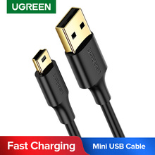 Ugreen Mini كابل يو اس بي USB صغير إلى USB شاحن بيانات سريع كابل ل MP3 MP4 لاعب جهاز تسجيل فيديو رقمي للسيارات لتحديد المواقع كاميرا رقمية HDD USB صغير