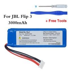 Gsp872693 3.7v 3000mah bateria de alta qualidade para jbl flip 3 cinza gsp872693 p763098 03