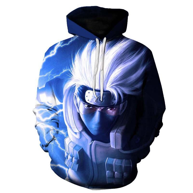 Anime Naruto Pocket Hooded Sweatshirts Sasuke 3D Hoodies Hot Animation Pullovers Tracksuits Men Women Long Sleeve Outerwear New