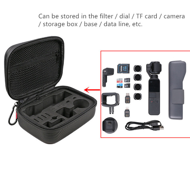 Storage bag osmo pocket portable case pu waterproof shock absorber bag filter spare parts box for dji osmo pocket camera