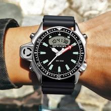 SANDA – montre-bracelet de Sport pour hommes, étanche, double affichage, marque #3008, nouvelle collection