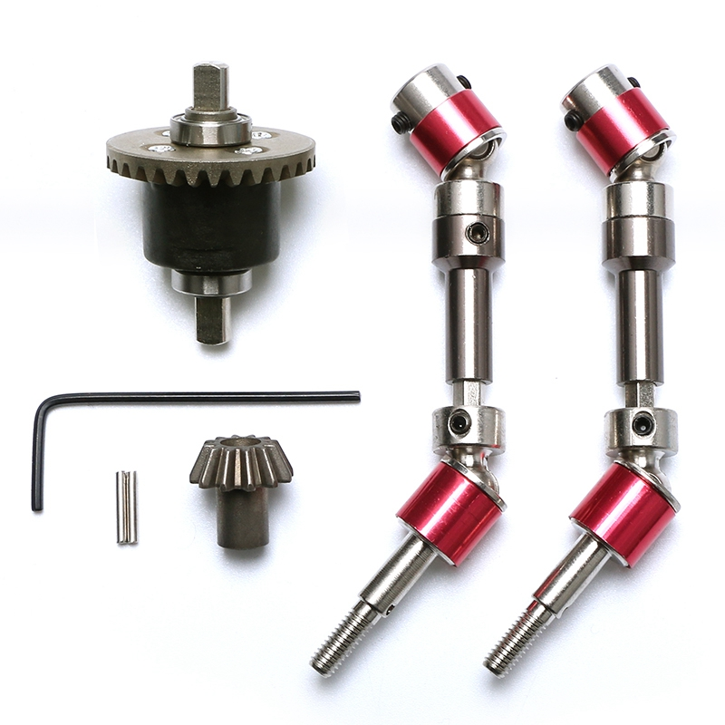 FBIL-RC DIY Parts For 12428 12423 FY03 Upgraded Metal Front Wheel Drive Shaft Front Differential