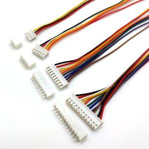 20 комплектов XH 2,54 мм 20 см 2/3/4/5/6/7/8/9/10/12 Pin гнездовой провод прямой разъем L:200 мм