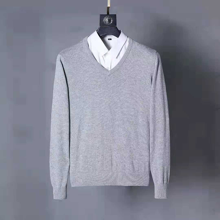 Men Small Pony V-neck Cotton Sweater Autumn Winter Jersey Jumper Hombre Pull Homme Hiver Pullover Men Knitted Sweaters