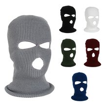 Army Tactical Mask 3 Hole Full Face Ski Winter Cap Balaclava Hood Motorbike Motorcycle Helmet NEW