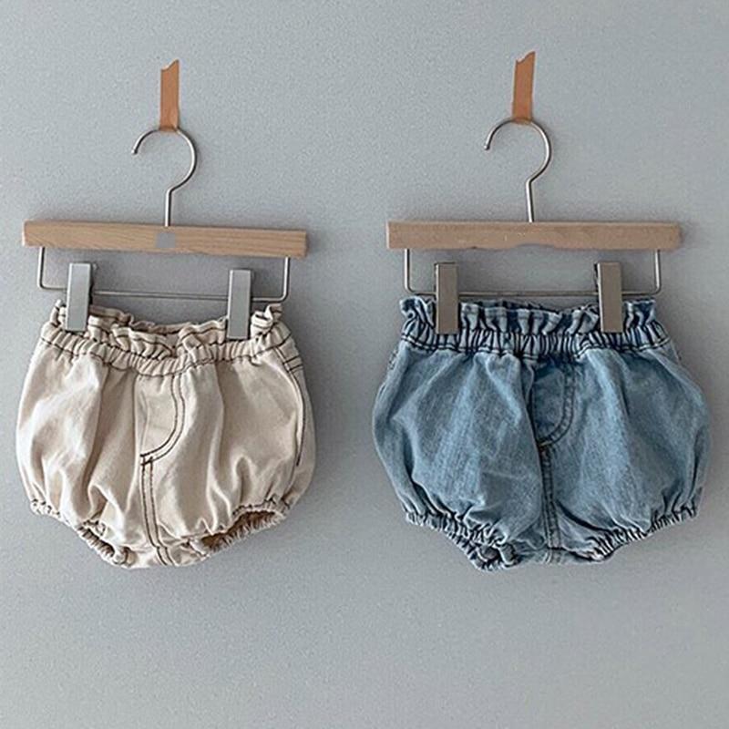 2020 Baby Boys Denim Shorts Infant Toddler Baby Girls PP Shorts Diaper Cover Denim Shorts Kids Jeans Pant Bloomers Baby Shorts 5