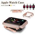 Тонкий чехол для часов apple Watch 5 4 3 2 1 чехол 38 мм 42 мм 44 мм 40 мм с алмазной защитой для iwatch 5 4 Для Женщин