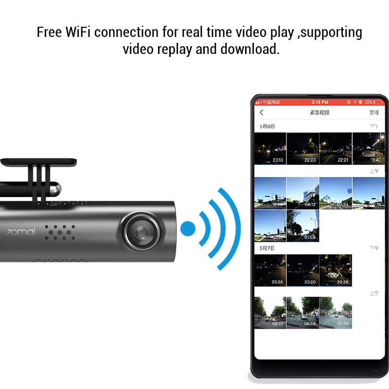 70mai Dash Cam DVR Xe Ô Tô Wifi Ứng Dụng Điều Khiển Giọng Nói 70 Mai Dash Cam 1S Siêu Nhỏ FHD 1080P Nhìn Đêm camera Xe Hơi Tự Động Ghi Cảm Biến
