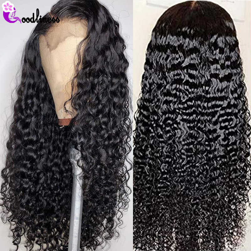 Transparent Glueless 13x4 Lace Frontal Wigs Pre Plucked Mongolian Kinky Curly Wig Short Human Hair Wigs Remy Black HD Lace Wig