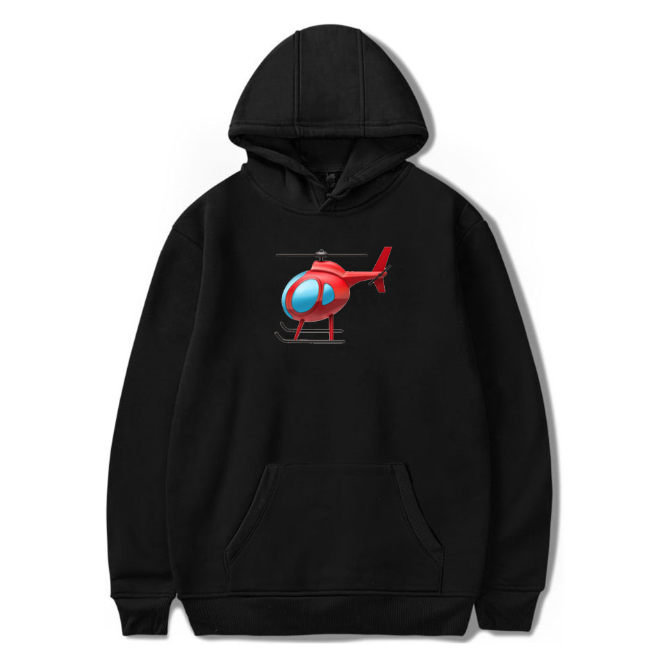 New 2020 Tony Lopez Same Style Hooded Sweatshirt Men/Women Helicopter Print Hoodies Pullover Unisex Adults/children Clothes