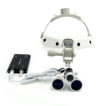 цена на Dentist Dental Surgical Loupe Magnifier Adjustable Binocular Magnifier Loupe with LED Light Medical Surgical Loupe
