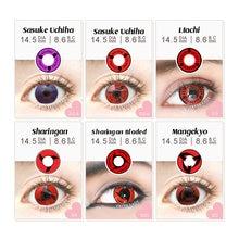 Контактные линзы для макияжа глаз uchiha мягкие цветные контактные