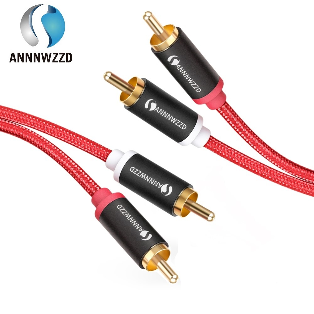 2RCA to 2 RCA Male to Male Audio Cable Gold-Plated RCA Audio Cable 2m 3m 5m for Home Theater DVD TV Amplifier CD Soundbox(China)