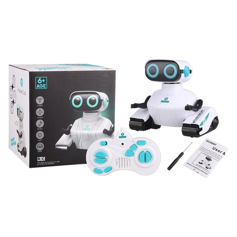 RC Robot Car 2.4GHz Remote Control Robot Toy for Kids with Shine Eyes Dance Moves Gift for Kids Boys Girls Age 6+