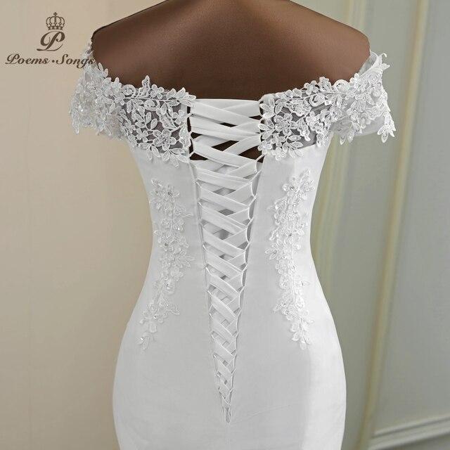 Vestido de casamento sexy 2021 apliques flor robe de mariee elegante vestido de noiva renda vestidos de casamento bela sereia vestido de noiva 6