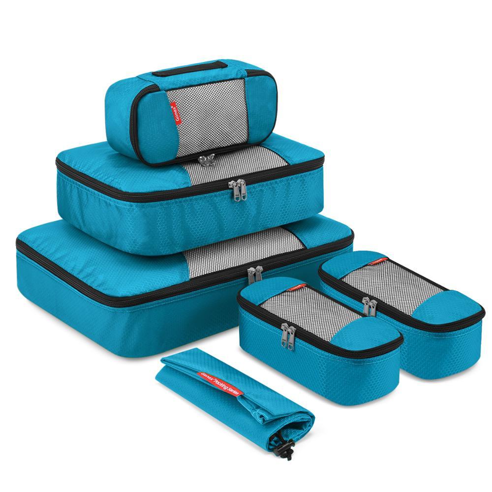 Дорожная сумка для хранения Gonex, подвесная компрессионная упаковка, кубики, чемодан, органайзер для багажа, дышащая сетка, нейлон, на молнии
