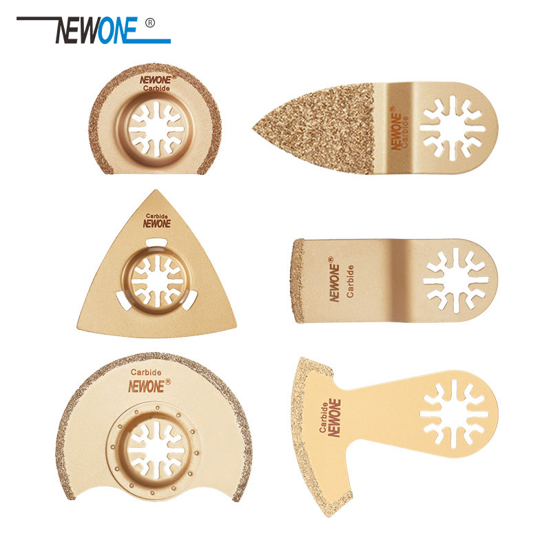 6pcs Carbide Oscillating Tool Saw Blade Accessories For Renovator Power Tool As Fein Multimaster,Dremel,small Concrete Cutting