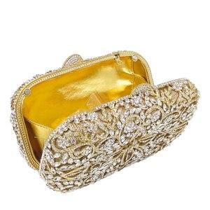 Image 4 - بوتيك دي FGG الجوف خارج المرأة الذهب كريستال براثن معدنية minaudio ere حقيبة يد الماس مساء حقائب الزفاف حقيبة صغيرة