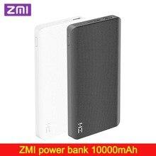 Zmi 10000mah power bank bateria externa 10000mah powerbank portátil tipo de carregamento c maneira carga rápida 2.0 para xiaomi iphone