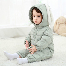 Bunny Rompers Baby Winter Infant New Year Cloth Coveralls Newborns Warm Romper Rabbit Overalls For