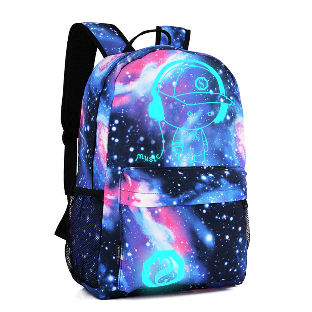 DIOMO Kühle Licht Schule Taschen für Jungen und Mädchen Rucksack mit USB Lade Anime Rucksack Für Teenager Mädchen Anti- diebstahl