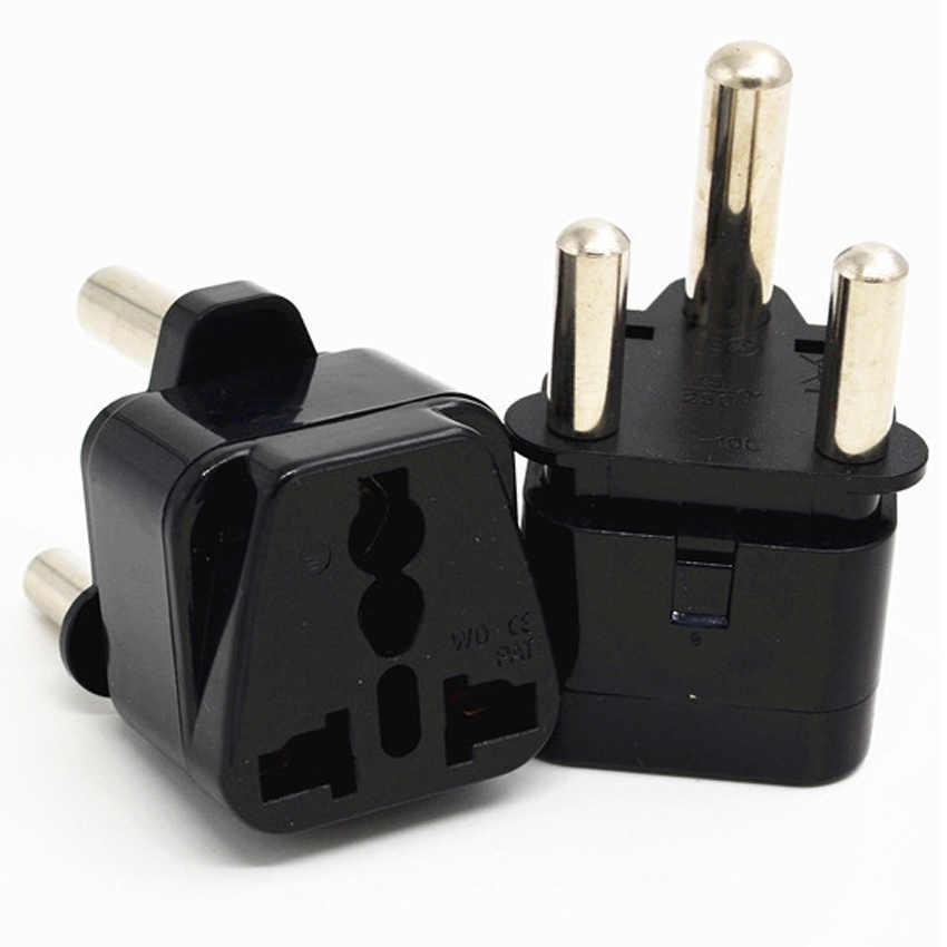 Zwart Wit 250 V 15a Koper Universele Au Uk Eu Ons India Israël Maleisië Singapore Grote Zuid-afrika Power plug Adapter Type M