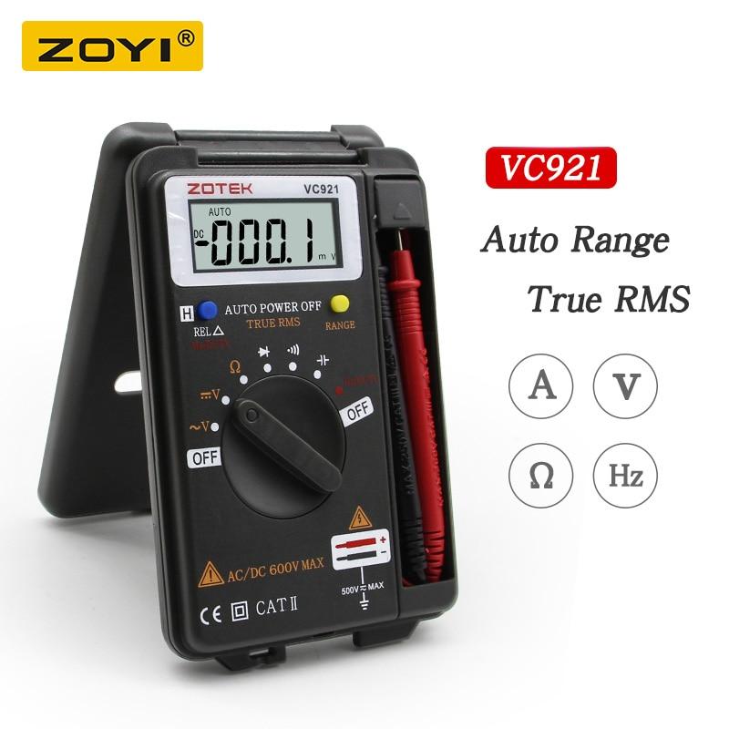 Digital Multimeter ZOYI VC921 3 3/4 Personal Mini Digital Multimeter Handheld Pocket capacitance resistance frequency tester-in Multimeters from Tools