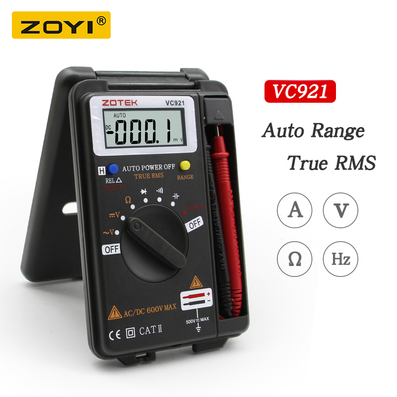 Multímetro Digital ZOYI VC921 3 3/4 Pessoal Mini Bolso Handheld Multímetro Digital capacitância resistência tester frequência