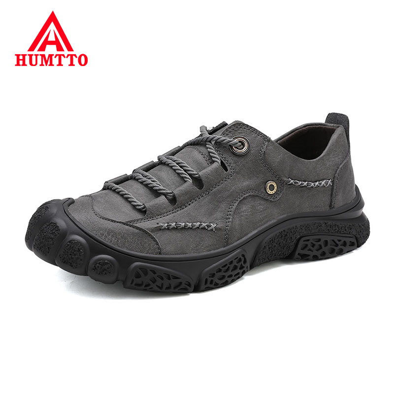 New High Quality Leather mens Casual Shoes Soft Non-slip Male Sneakers Fashion Light Luxury Brand Work safety Men shoes big size