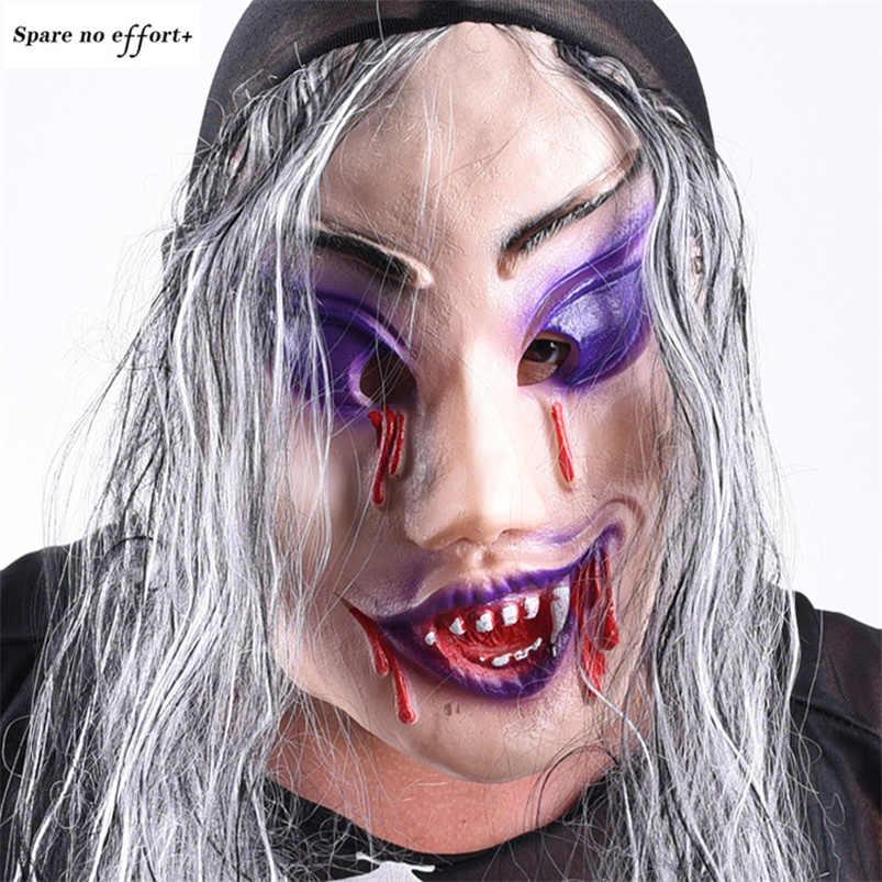 Halloween Zombie Maschera Spaventosa Maschera di Halloween Puntelli Del Partito mascara terrore Cosplay mascara in lattice di Orrore Puntelli mascara hallowen