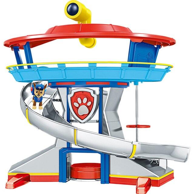 Patte Patrol jouets pour enfants, Base de sauvetage, Center de commandement, patrouille de chiots, ensemble de figurines de dessin animé, modèle, cadeau pour enfants