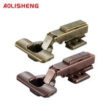 Aolisheng macio fechar dobradiça armário bronze escondido porta de móveis hidráulicos