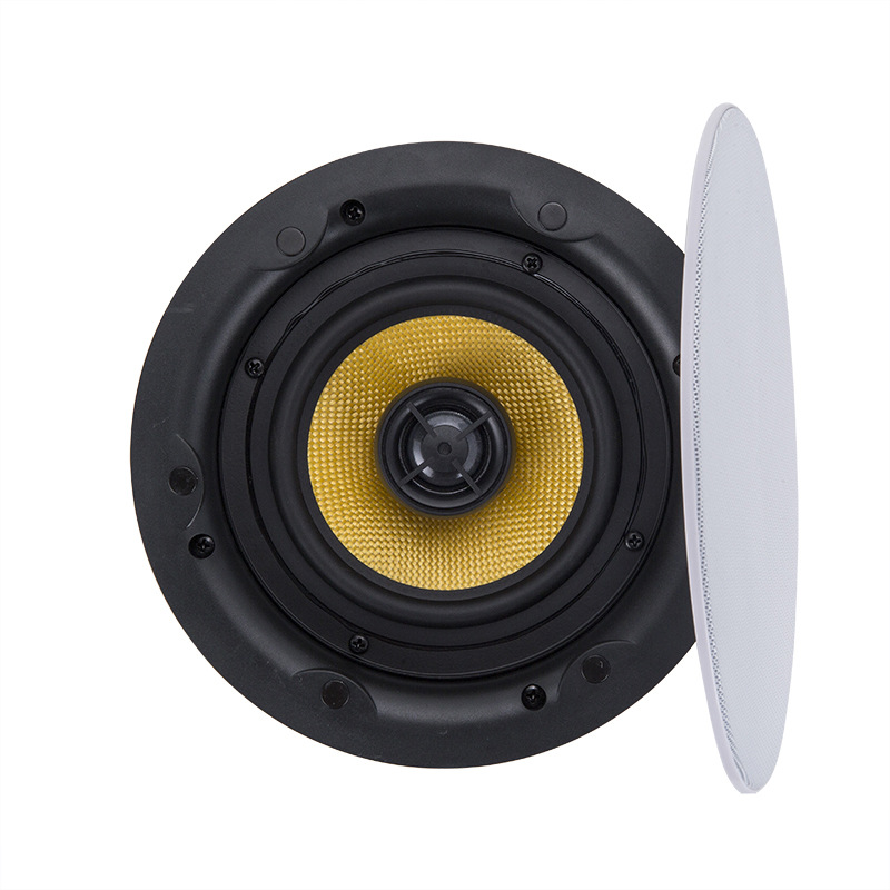 Background Music Host Ceiling Ceiling Coaxial Stereo 6-inch Speaker With Divider