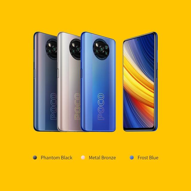 POCO X3 Pro Global Version 8GB+256GB Xiaomi Smartphone Snapdragon 860 120Hz DotDisplay 5160mAh 33W NFC Charge Quad AI Camera 6