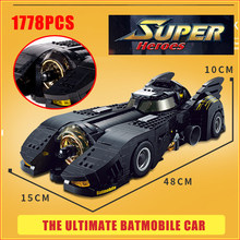 Ultima Batmobile Technic Compatibile Legoed Auto Moive Moc-15506 Bulding Blocchi Decool 7144 Mattoni Giocattoli Educativi per I Bambini(China)