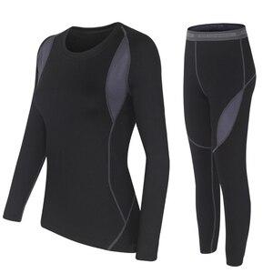 Image 2 - Iki parçalı Set kadın sıcak kış termal peluş kadife termal giyim sıcak kuru teknoloji eşleşen setleri Conjuntos De Mujer