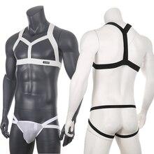 Costume Jockstrap G-String Chest-Harness Lingerie Clubwear Bondage Body Men Tops Thongs-Set