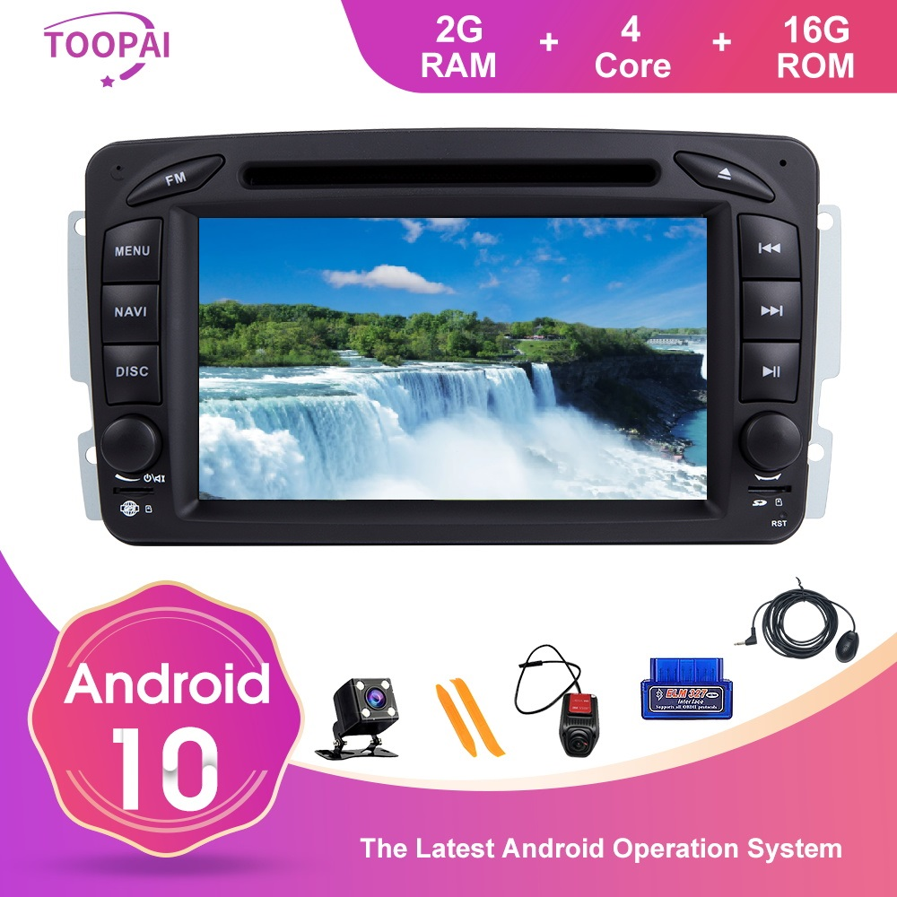 TOOPAI Android 10 For Mercedes <font><b>Benz</b></font> CLK W209 Vito W639 Viano A W168 C <font><b>W203</b></font> W209 C209 G Class W463 Multimedia Player GPS <font><b>Navi</b></font> SWC image