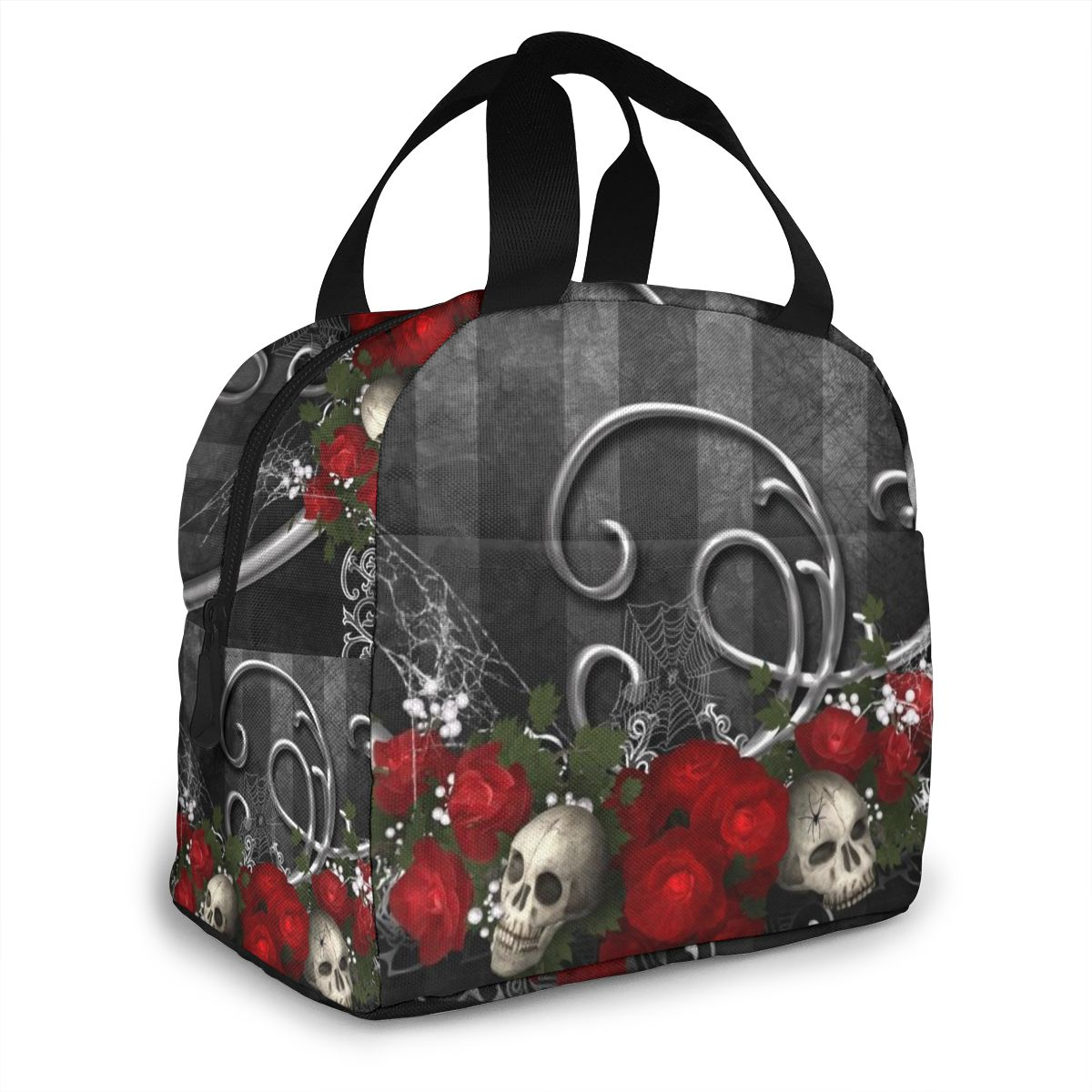 NOISYDESIGNS Fresh Insulated Cold Bales Lunch Bags Gothic Roses Skulls Printing Sac Isotherme Lunch Box Kids Women Bolsa Termica