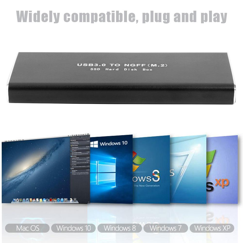 VKTECH M2 SSD Case Hard Disk Case USB3.0 Micro-B to M.2 NGFF Adapter External Hard Drive Disk HDD Box SSD Enclosure m.2 SSD Case