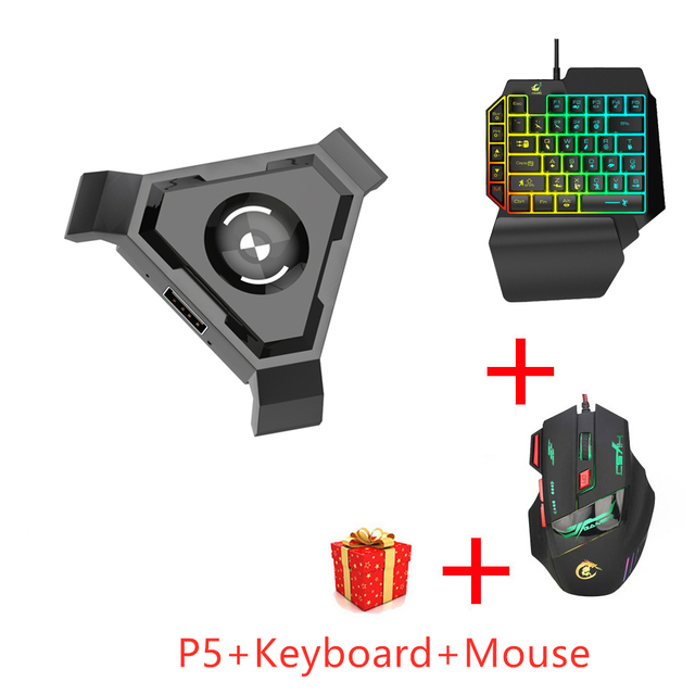 PUBG mobil Gamepad denetleyicisi oyun klavye fare dönüştürücü Android ios PC Bluetooth 4.1 adaptörü