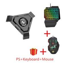 Pubg móvel gamepad controlador jogo teclado mouse conversor para android ios para pc bluetooth 4.1 adaptador