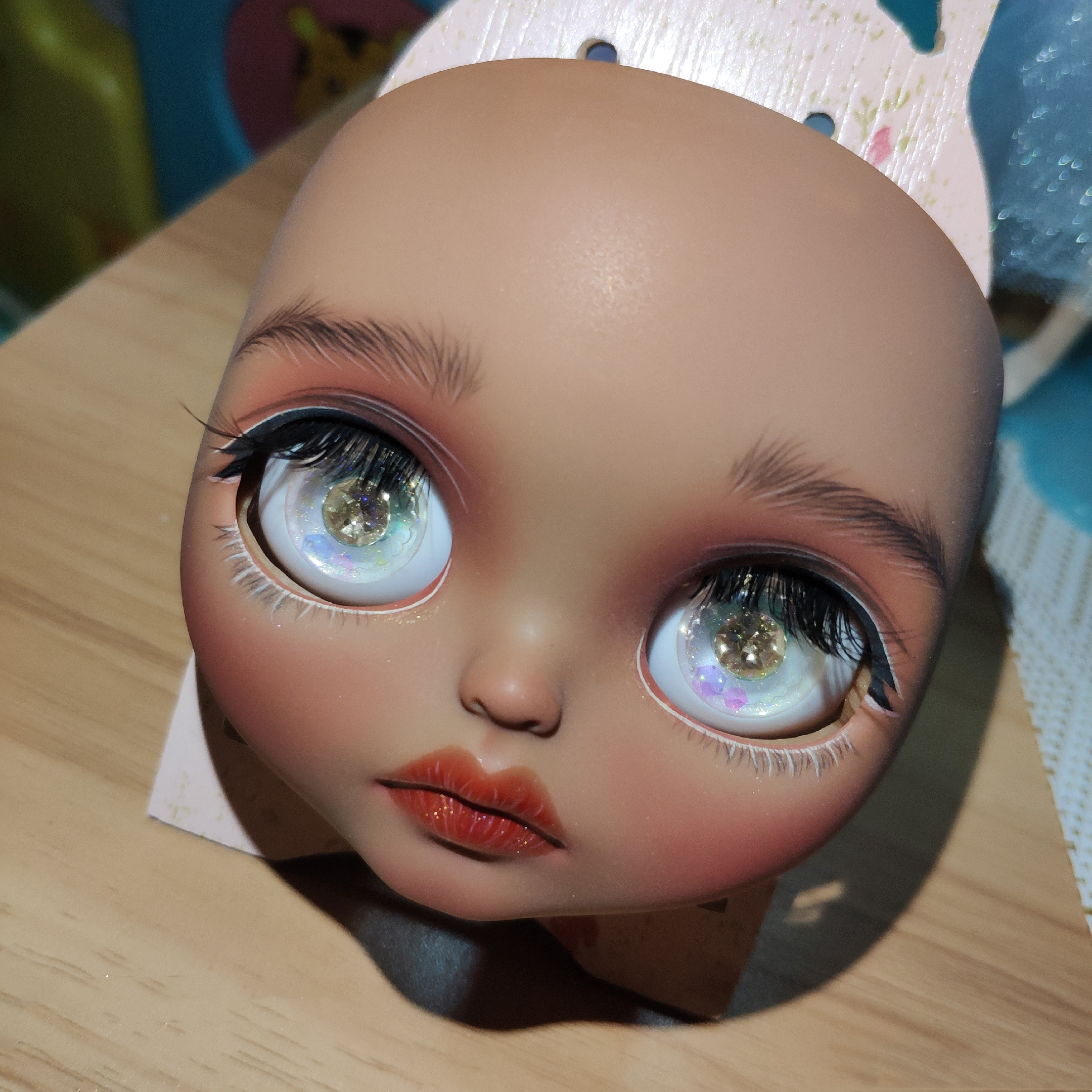 1/6 BJD 30CM Doll Toys 19 Joint Top Quality Customization Doll Nude Blyth Doll ,face Plate With Makeup Dark Skin Sexy Makeup