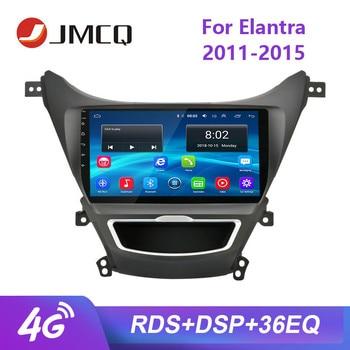 """JMCQ 9 """"Hyundai Elantra 2011-2015 için araba radyo RDS 36EQ Android oyuncu GPS Navigaion multimedya Video oynatıcılar stereo çerçeve ile"""