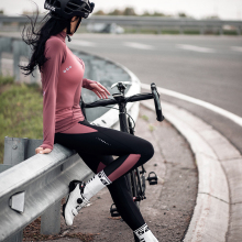 Pants Cycling-Set Santic Women Sports-Suit Warm Autumn Winter Windproof Reflective Fleece