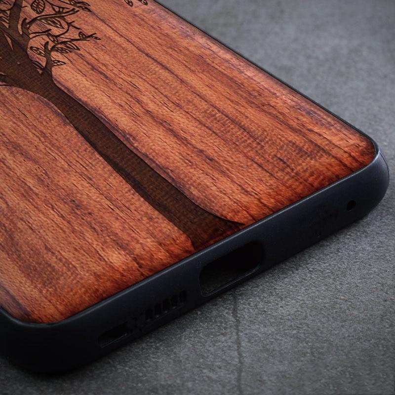 Kayu Kasus Untuk Samsung Galaxy S9 S10 Ditambah Catatan 9 8 10 - Aksesori dan suku cadang ponsel - Foto 4