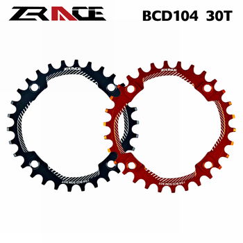2020 ZRACE Chainrings Chainwheels BCD104, 30T, diente de ancho estrecho AL7075 CNC para bicicleta de montaña, bicicleta plegable, bicicleta de carretera