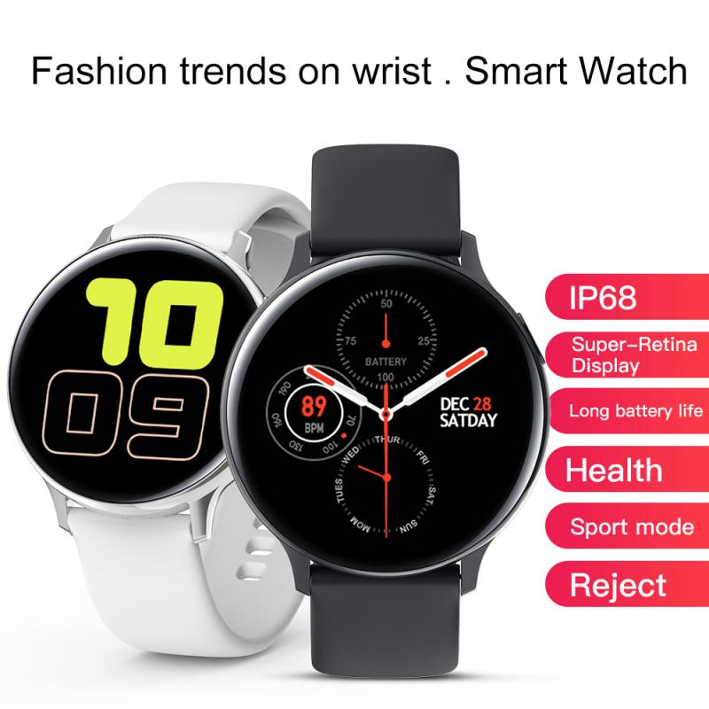 New S20 Smart Watch Fitness Full Touch IP68 Waterproof Men Women Devices SmartWatch ECG Detection Smart Band Heart Rate Monitor